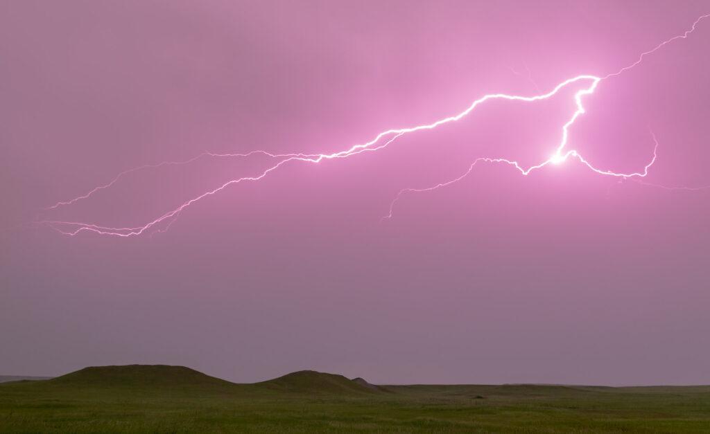 Picturesque lightning - Badlands National Park, South Dakota