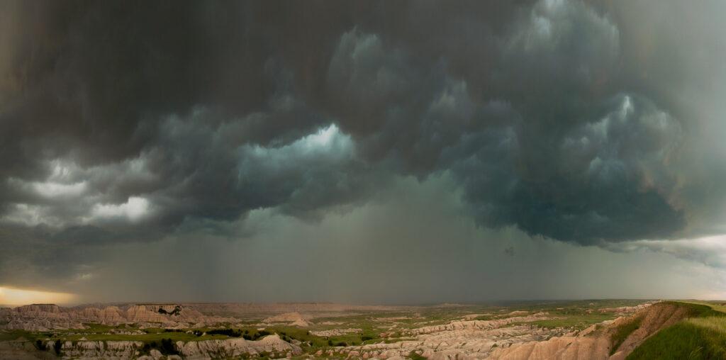 Squall line - Badlands National Park, South Dakota